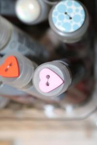 Bilde av Hjerte knapp, lys rosa