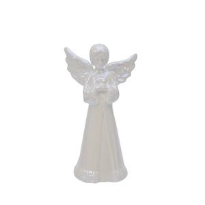 Bilde av Engel i porselen Pearl hvit