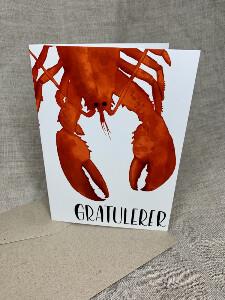 Bilde av Gratulere kort - hummer