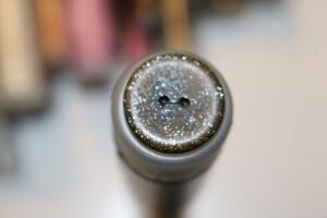 Bilde av Brun sort knapp med skimmer
