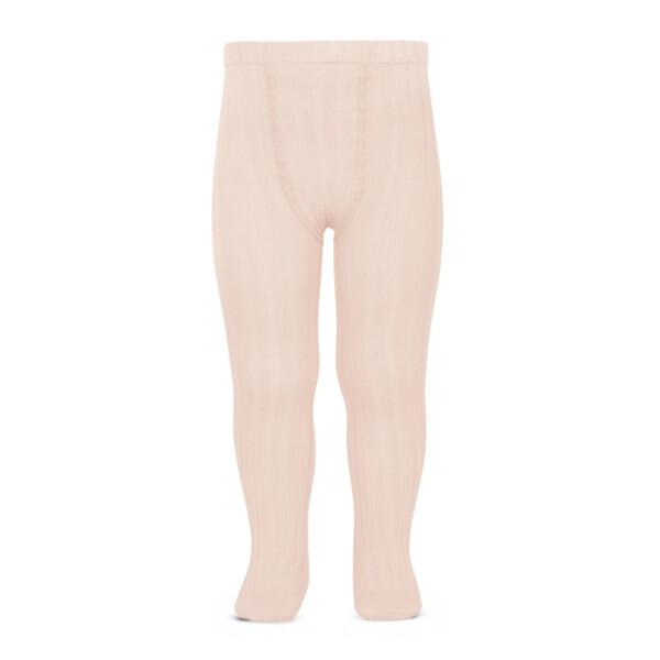 674 Nude Strømpebukse med bred ribb (rosa)