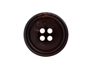 Bilde av Klassisk knapp brun 15mm