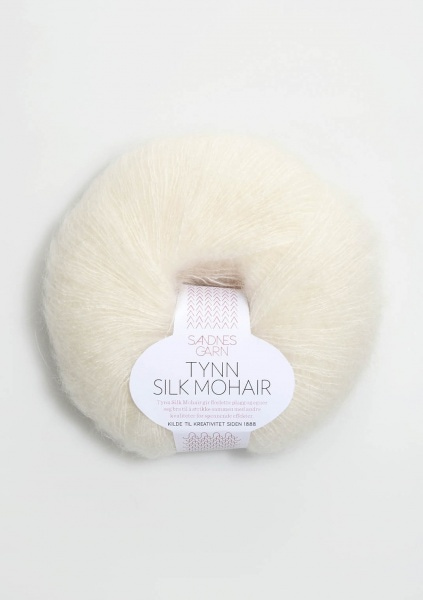 1012 natur Tynn Silk Mohair