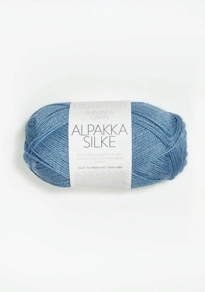 6573 Alpakka Silke kornblomst