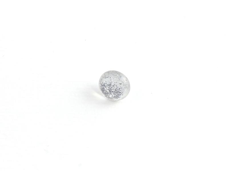 Øyeknapp Glitter 11mm Sølv