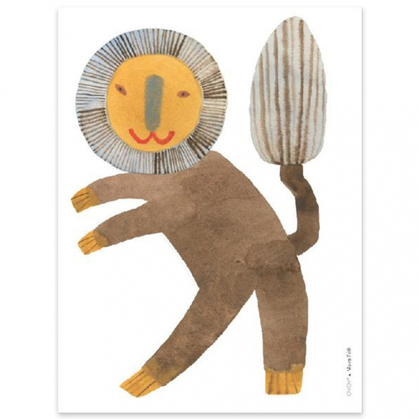 Poster - OYOY Standing Lion (30x40 Cm)