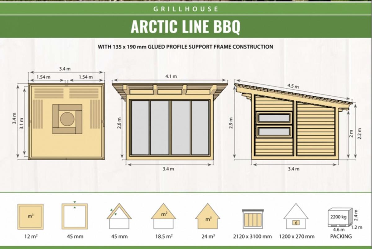 Arctic Line Grillikota 11.5 m2 Premium