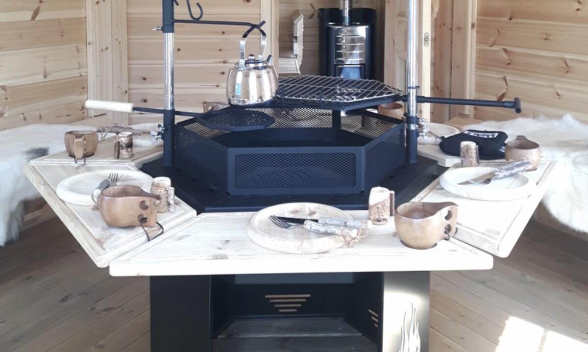 Utdragbara bord til grillen