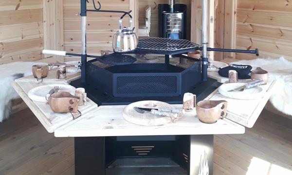 Kuva Ulosvedettävä pöytä grillille