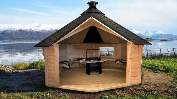 Kuva Tuulensuoja 16.5 m2 Premium sis. grillin ja
