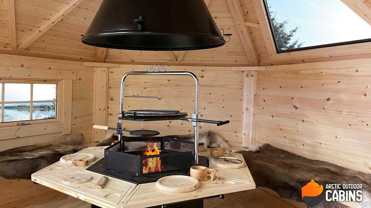 6-kant grill, skorsten og topphatt Premium
