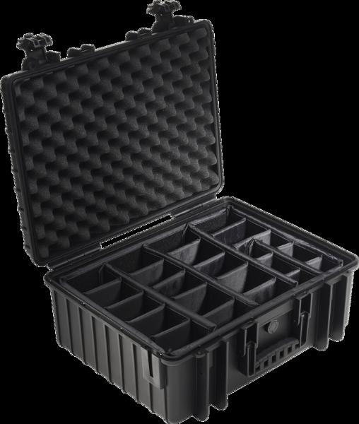Bilde av BW Outdoor Cases Type 6000 Sort RPD (Oppdelt)