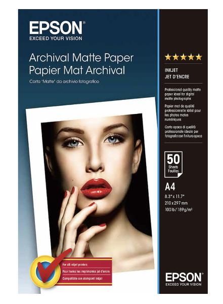 Bilde av EPSON A4 Archival Matte Paper 189gr, 50 sheets