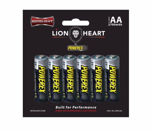 Bilde av ROTOLIGHT lionheart 6pk AA recharg battery