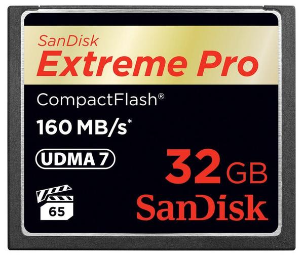 Bilde av SanDisk Extreme Pro Compact Flash 160MB/s 32GB