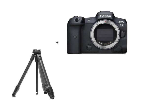 Bilde av Canon EOS R5 + Peak Design travel tripod