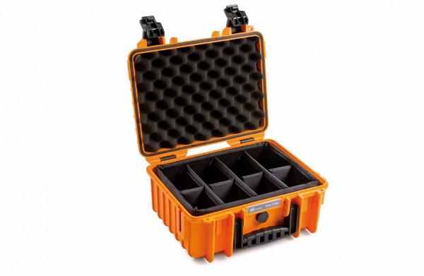 Bilde av B&W OUTDOOR CASES Type 3000 Oransje RPD (Oppdelt)