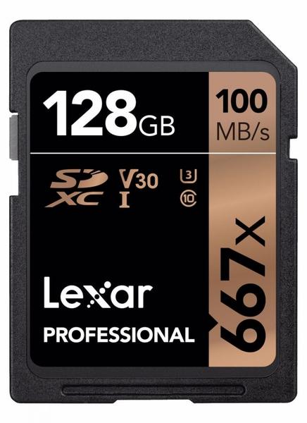 Bilde av LEXAR Pro 667X SDXC UHS-I U3 (V30) R100/W90 128GB