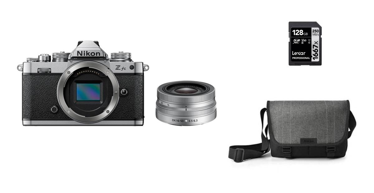 Nikon Z fc + 16-50mm + minnekort og veske