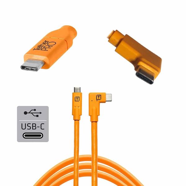 Bilde av TetherPro USB-C til USB-C 4,6m Vinklet | Orange