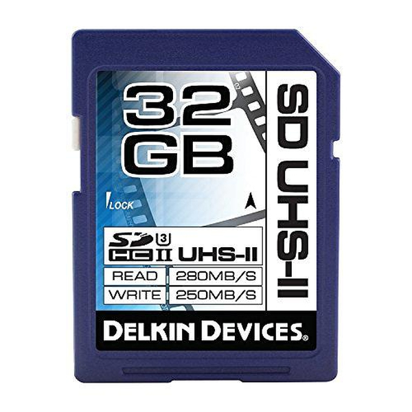 Bilde av Delkin Cinema SDHC UHS-II Class 3 32GB