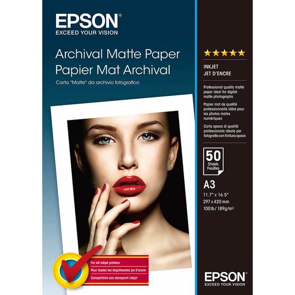 Bilde av EPSON A3 Archival Matte Paper 189gr, 50 sheets