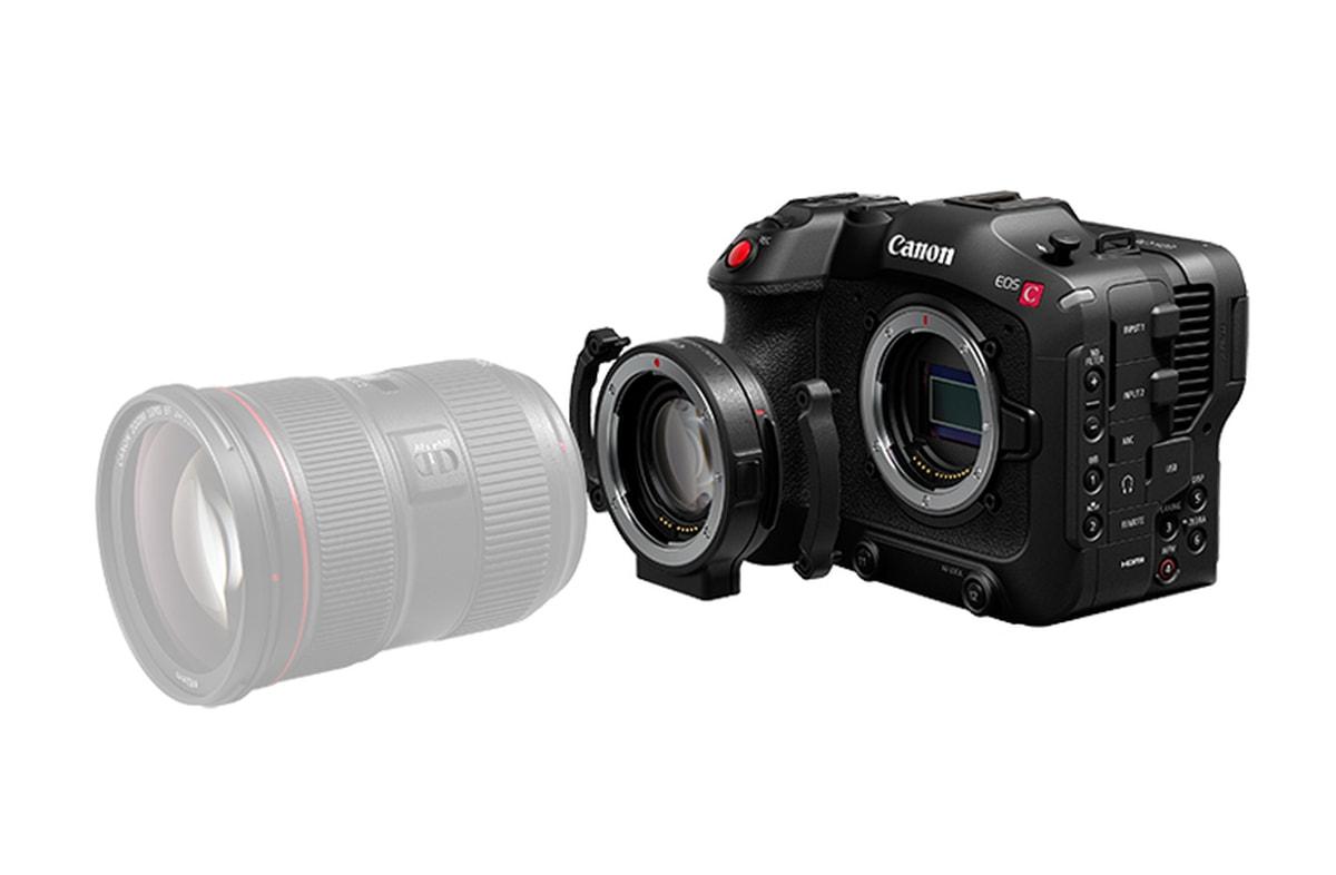 Canon C70 + Canon EF fatningsadapter