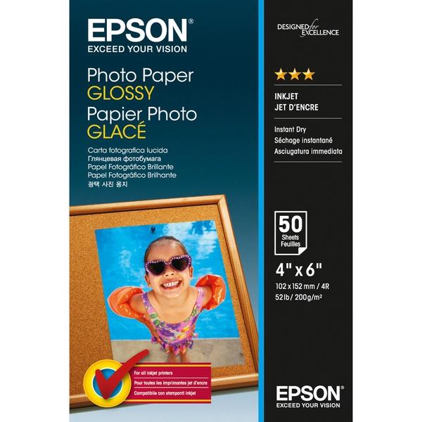 Bilde av Epson 10x15cm Photo Paper Glossy 200g/m², 50 ark