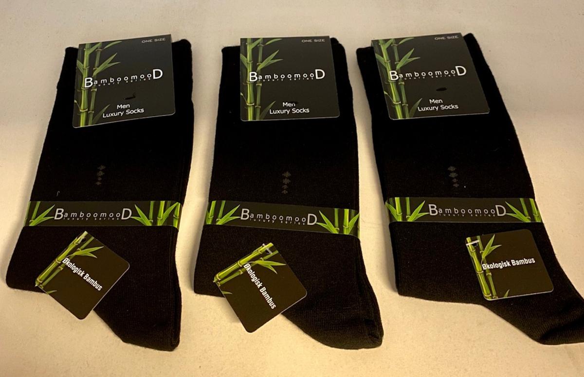 3 pack Luxury Bambus sokker Herre
