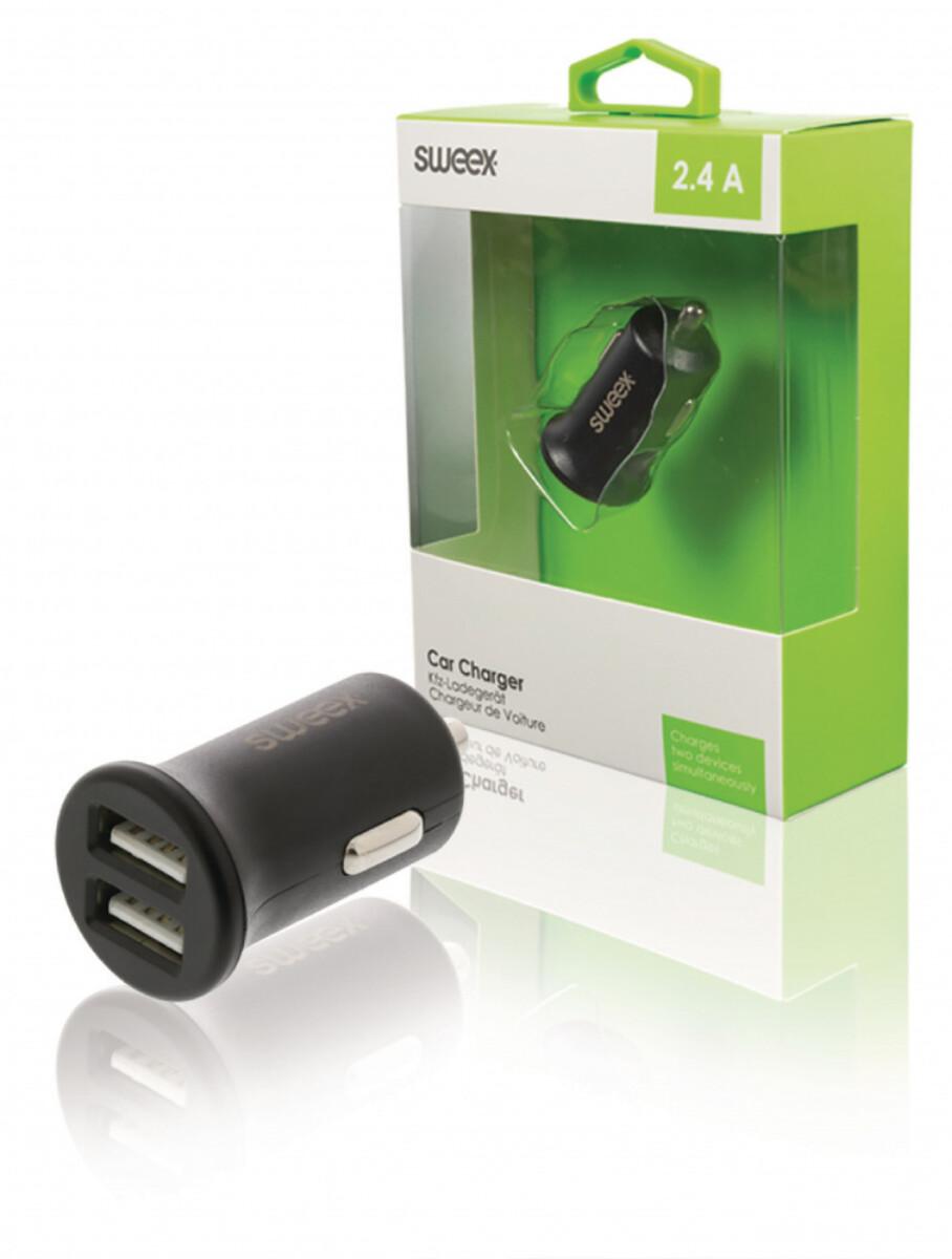 Billader med 2 x USB-innganger