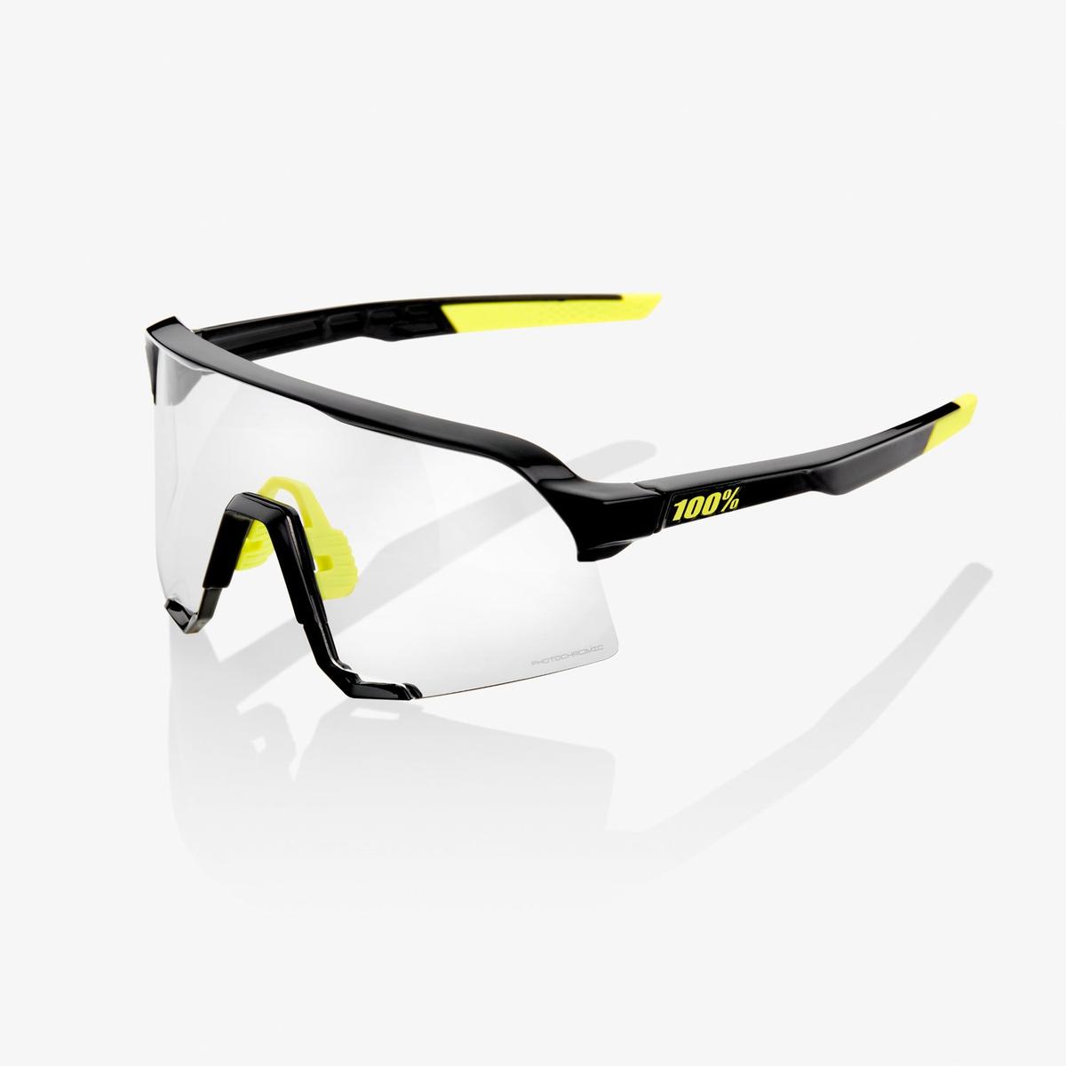 100% S3 Gloss Black - Photocromic Lens Brille