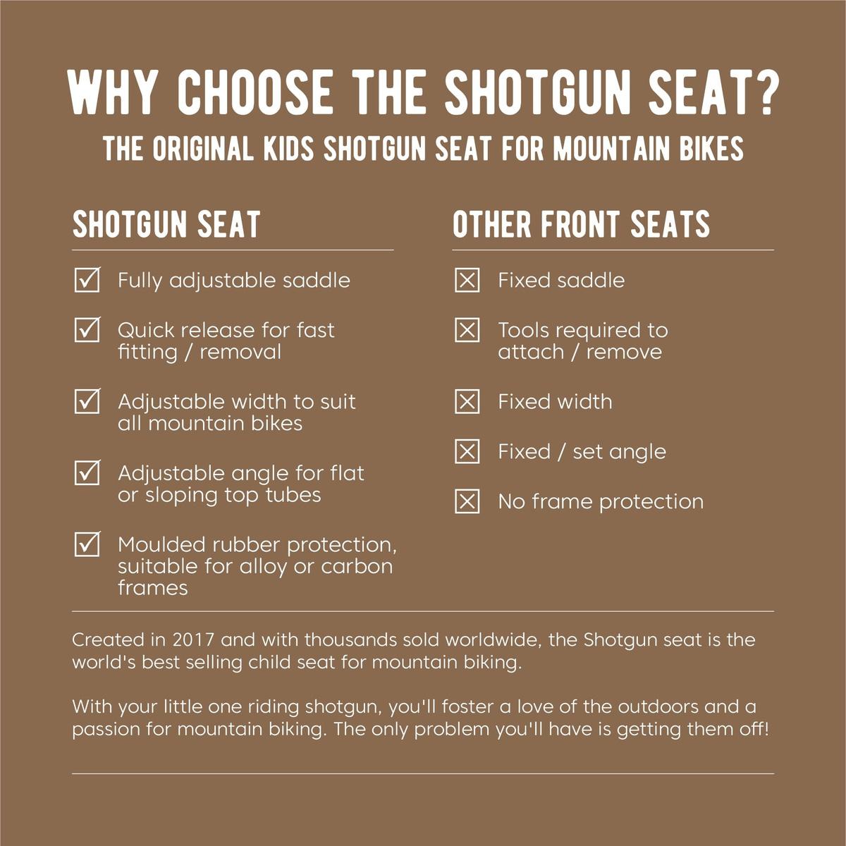 Shotgun Kids MTB Seat Barnesete