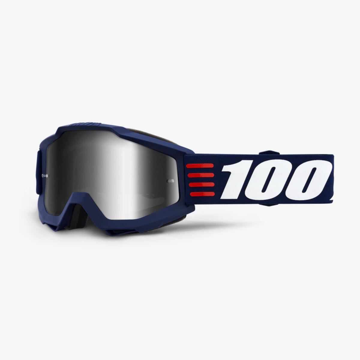 100% ACCURI Art Deco Goggles -  Silver Mirror Lens