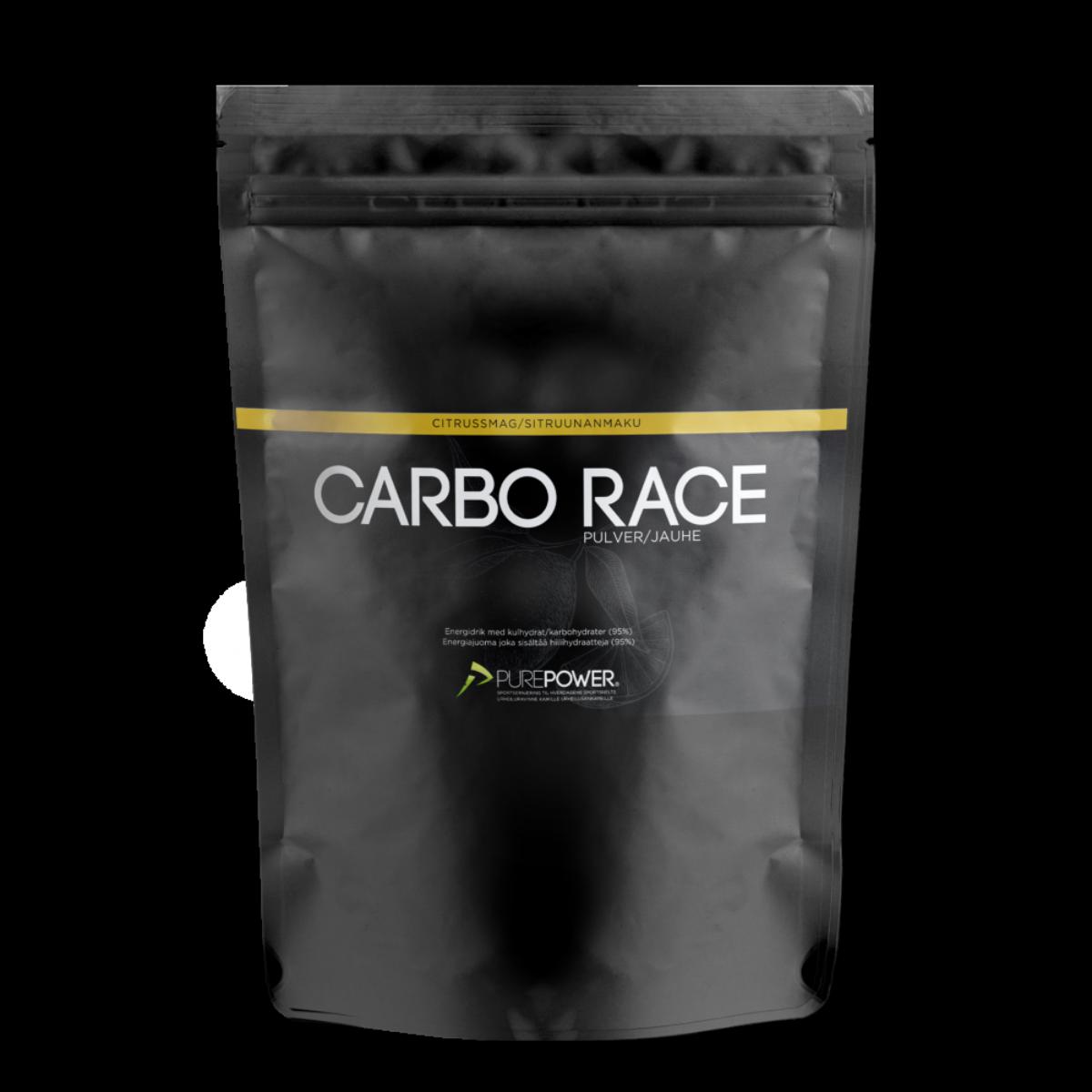 PurePower Carbo Race Sportsdrikk Sitrus, 1.pk