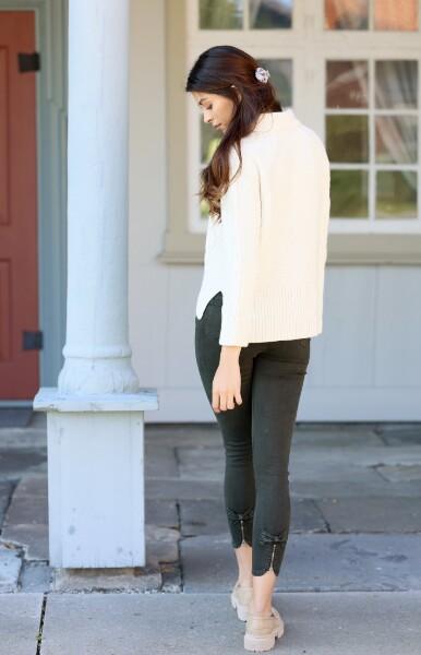 Bilde av Mapp - Bow Twill Trousers - Bottle Green