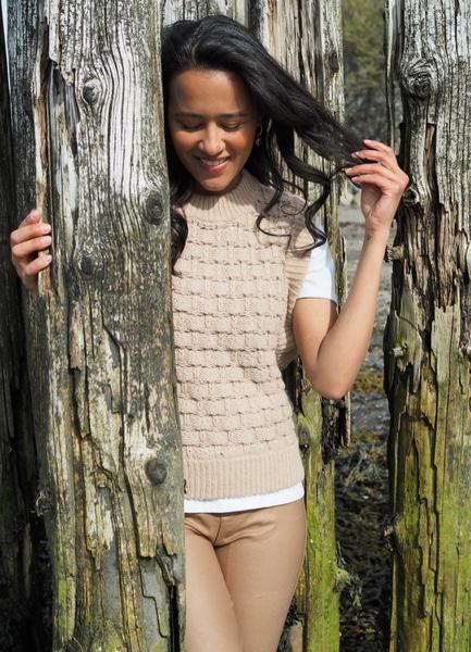 Bilde av By TiMo - Cotton Knit Vest - Beige