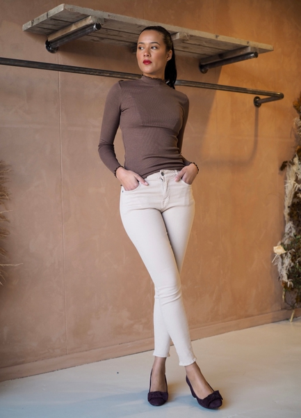 Bilde av Mapp - Bow Twill Trousers - Sand
