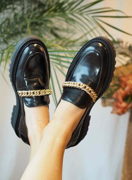 Bilde av Billi Bi - Loafer Black - Gold Chain