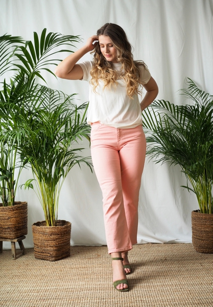 Bilde av Basic Apparel - Ellen Jeans - Rose Tan