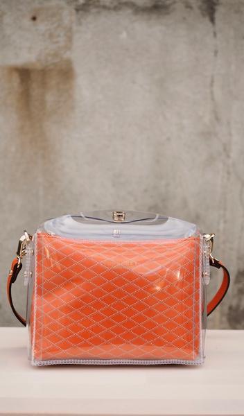 Bilde av Pourchet - Cristal crossbody bag - Orange