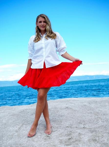 Bilde av MissMaya - Darcy Skirt - True Red
