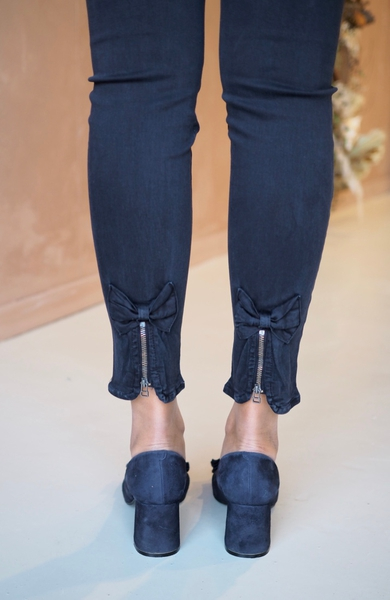 Bilde av Mapp - Bow Twill Trousers - Navy