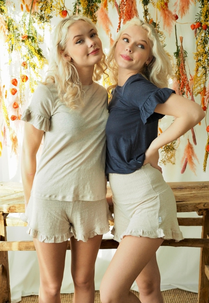 Bilde av Ella&Il - Hebe Linen Shorts - Beige