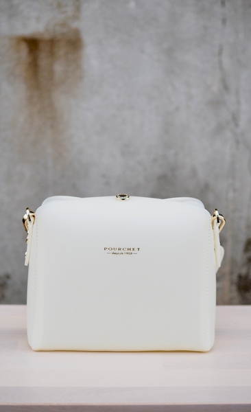 Bilde av Pourchet -Rubber crossbody bag - Blanc