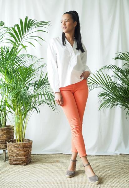 Bilde av Mapp - Bow Twill Trousers - Orange
