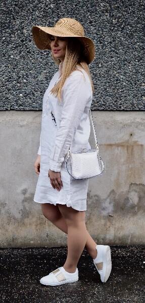 Bilde av Pourchet - Cristal crossbody bag - Blanc