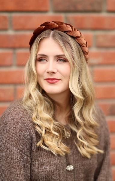 Bilde av Nectar - Braided Headband Velvet - Rust