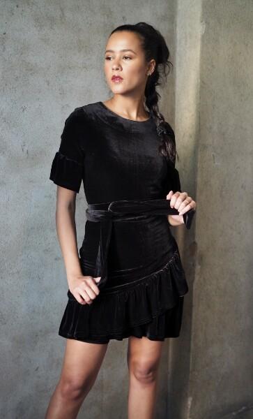 Bilde av Ella&il - Charlisse Dress - Black Velvet