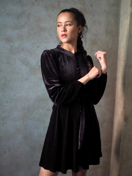Bilde av Ella&il - Zerena Dress - Black Velvet