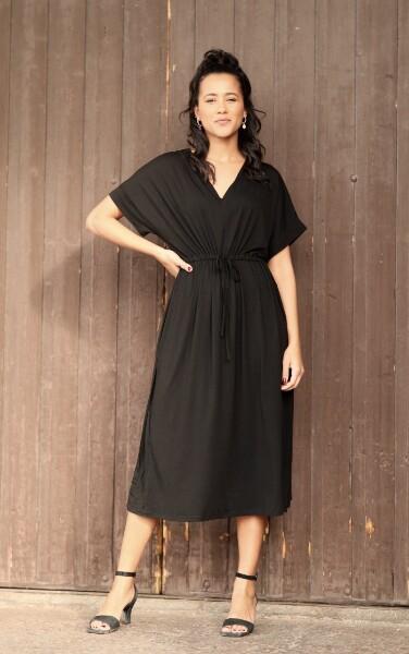 Bilde av Basic Apparel - Anjo Dress - Black